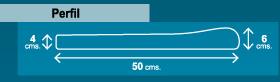 perfil de borde de 50 cm
