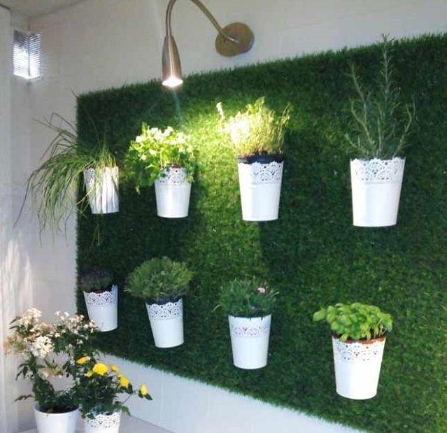 jardin vertical con cesped articial