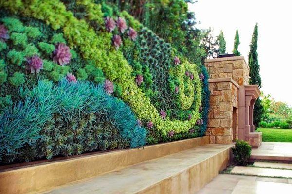 jardin vertical en valla