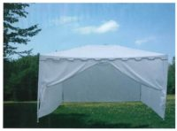 Pergola metálica con cortinas 3×4