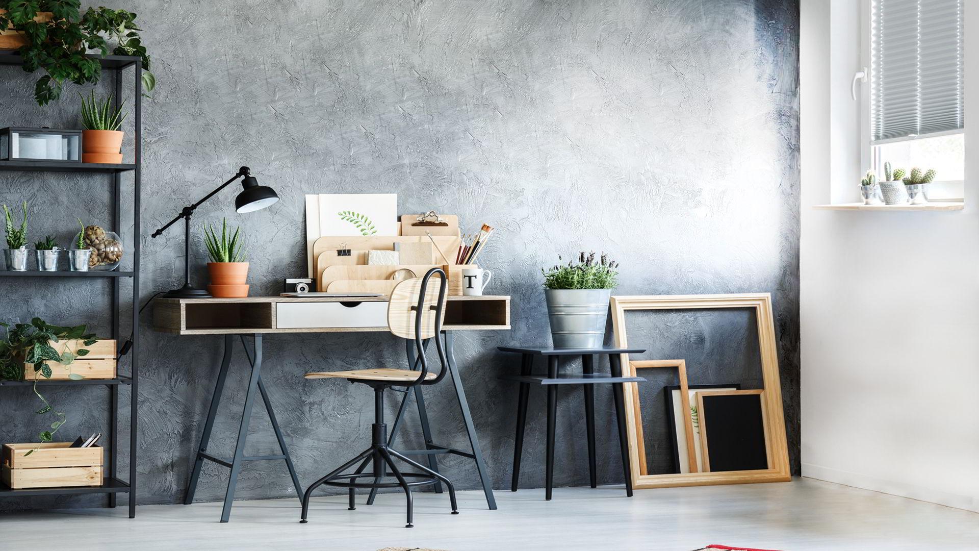 pared-habitacion-microcemento Como decorar una habitación pequeña