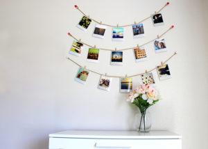 decorar habitacion pequeña con fotos